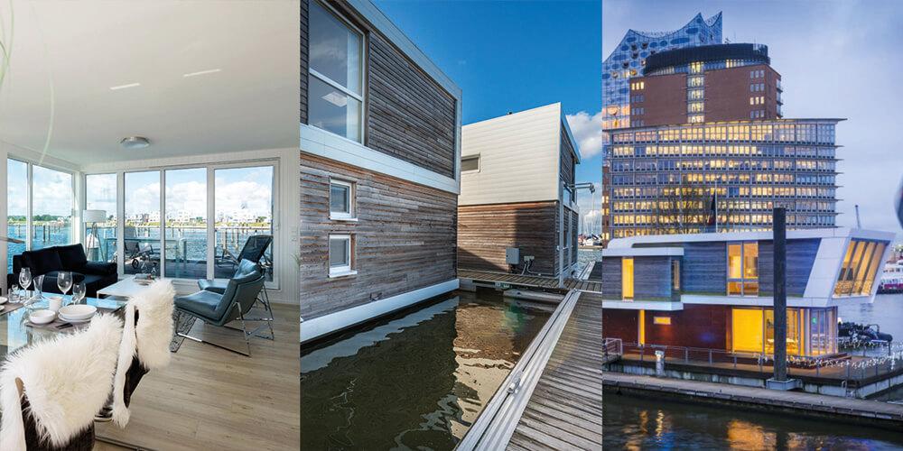 """Floating Homes – Das """"neue"""" Wohnen auf dem Wasser"""